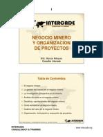 1 .- Negcio Minero y Organizacion de Proyectos.