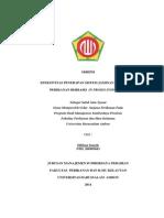 Skripsi Efektivitas Penerapan Sistem Jaminan Mutu Hasil Perikanan Berbasis in Proses Inspection