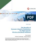 The Benefits of Dynamic Adaptive Modulation