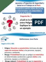 Respuestas SST 7 ¿Cuál es la diferencia entre Peligro y Riesgo?