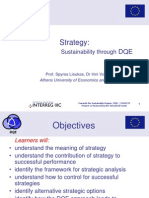 Strategy Sustainability Through DQE