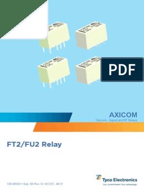Tiny 5 V PC Mount Relay FP2 Axicom 5V Coil 2 Amp Relay Rated at 250 VAC