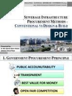 Sewerage Infrastructure Procurement Methods Conventional vs Design Build