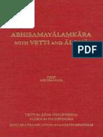 155456984 Gareth Sparham Abhisamayalamkara With Vrtti and Aloka Volume 1 First Abhisamaya