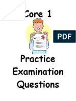 Core 1 Question Booklet (Edexcel) - Mr Slack