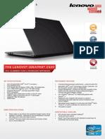 Lenovo Z500 datasheet
