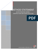 METHOD STATEMENT FOR WATER PROFFING WORKS