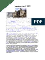 Recuo Dos Glaciares Desde 1850