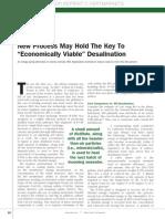 Economical Viable Desalination