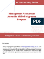 Management Accountant Australia Skilled Migration Program