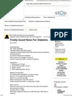 Finally Good News for Diabetes. - Diabetes India _ HealthUnlocked