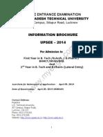 UPSEE 2014 Information Brochure