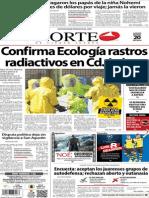 Periódico Norte de Ciudad Juárez edición impresa del 20 marzo del 2014