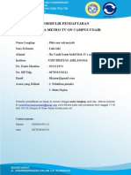 Formulir Pendaftaran Moc Unair