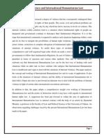 International Humanitarian Law Project-Internal Disturbance and IHL`