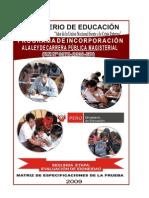 Cpm 2da Etapa Matriz Especificaciones_2009