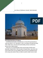 Bioghraphy of Hazrat Meranji Khuda Numa Hyderabad