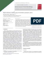 Rapid Endospore Viability Assay for Clostridium Sporogenes Spores