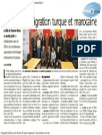 L'Avenir - 50 Ans d'Immigration Turque Et Marocaine - 19.03.14
