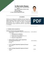 C.V Renzo Barrueto