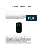 ZTE MF60 Mobile Hotspot- 21Mbps Bewertung