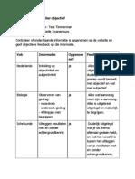 beoordelingsformulier objectief voor tess