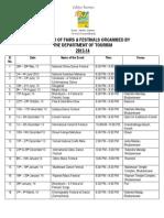 Calendar Fairs & Festivals by Dot 2013-14