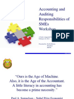 Accounting and Auditing Responsibilities of Sme's