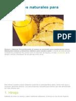 6 Productos Naturales Para Drenar - Mejor Con Salud