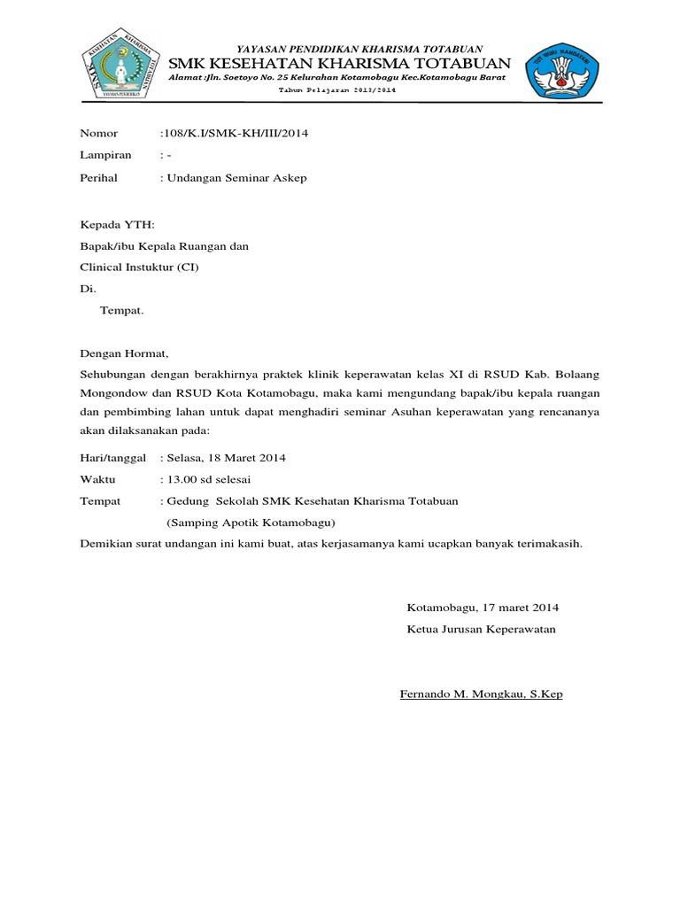 Surat Undangan Seminar Askep