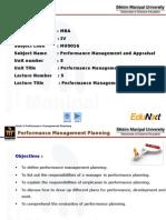 PMA Unit 5 Performance Management Planning PPT Final
