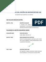 Pulsaciones del ratón en MicroStation v8i