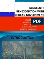 negotiation between kennecot and chile