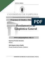 Fundamentos de Linguistica General