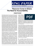 Averting the Resource Curse in Ghana