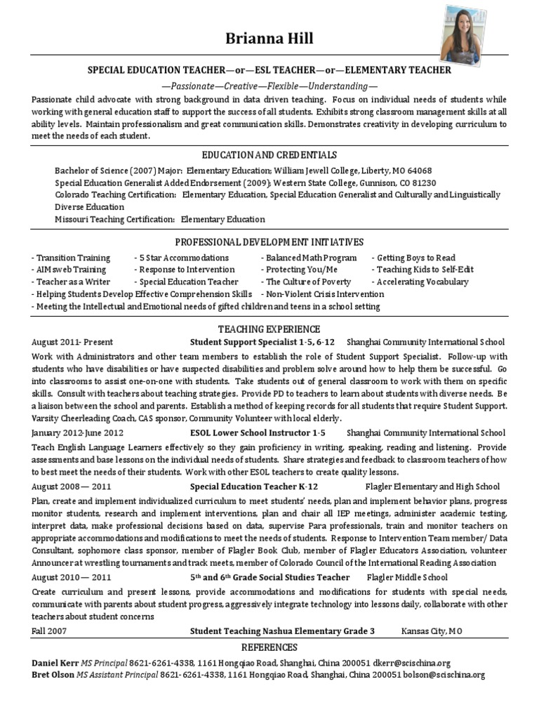 Brianna hill resume 2014 us educational psychology pedagogy xflitez Gallery
