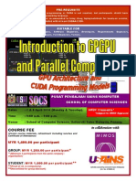 INTRODUCTION TO GPGPU AND PARALLEL COMPUTING (GPU ARCHITECTURE AND CUDA PROGRAMMING MODELS)