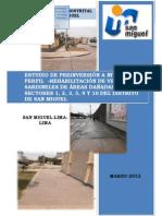 Rehabilitación de Veredas y Sardineles de Areas Dañadas en los Sectores 1, 2, 3, 5, 9 y 10, San Miguel - Lima - Lima
