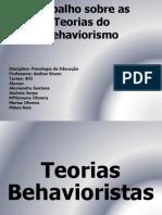 Trabalho Slides Behavorismo 2014
