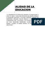 Finalidad de La Educacion