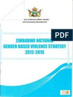 Zimbabwe National Gender Based Violence Strategy 2012 - 2015