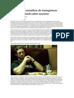 Conheça 13 conselhos do transgressor Chuck Palahniuk sobre escrever