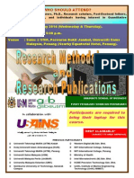 RESEARCH METHODOLOGY AND RESEARCH PUBLICATIONS