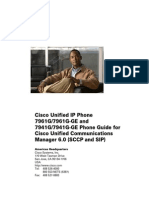 Cisco Unified IP Phone 7961G 7961G-GE and 7941G 7941G-GE for Cisco Unified Communications Manager 6.0 (SCCP and SIP)