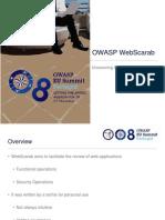 OWASP EU Summit 2008 WebScarab Treasures