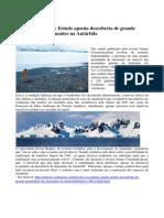 Descoberta de Diamantes Na Antartida - 9 Janeiro 2014