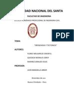 OROGÉNESIS Y TECTONICA DE PLACAS