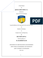 QUIZ GAME Report Amity University