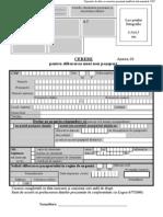 Anexa 10 Cerere Pasaport Cu Domiciliul in Romania