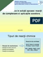 Curs  - Reactii Chimice. Reactii de Complexare Si Aplicatiile Acestora